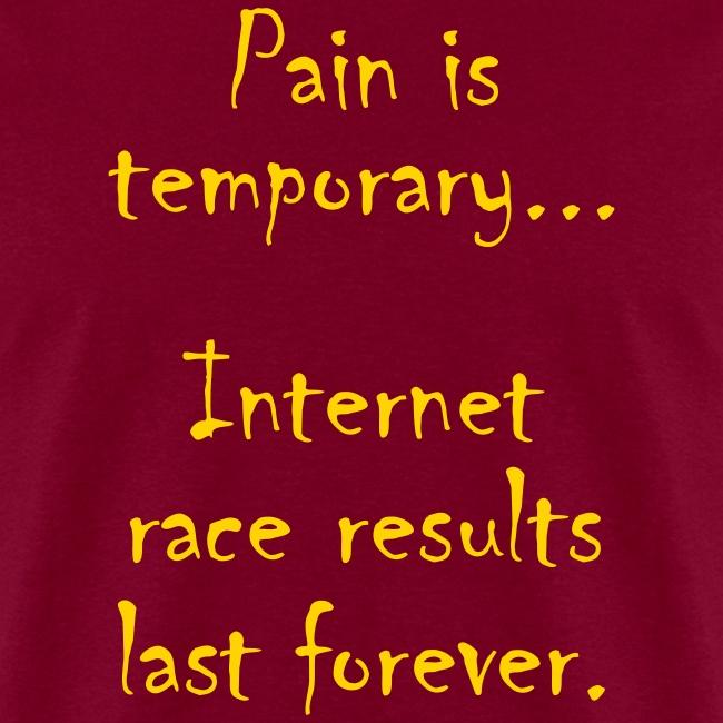 MENS RUNNING T SHIRT - PAIN IS TEMPORARY