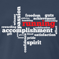 Design ~ MENS RUNNING T SHIRT - RUNNING WORD CLOUD