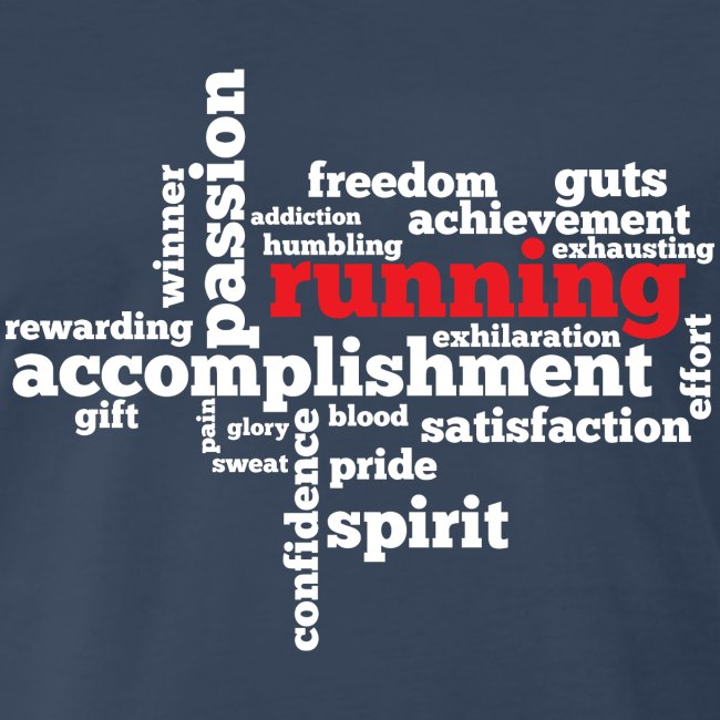 MENS RUNNING T SHIRT - RUNNING WORD CLOUD