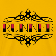 Design ~ MENS RUNNING T SHIRT - TRIBAL RUNNER