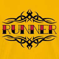 Design ~ MENS RUNNING T SHIRT - TRIBAL RUNNER