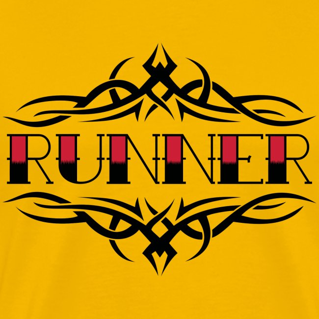 MENS RUNNING T SHIRT - TRIBAL RUNNER