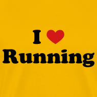 Design ~ MENS RUNNING T SHIRT - I HEART RUNNING