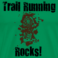 Design ~ MENS RUNNING T SHIRT - TRAIL RUNNING ROCKS