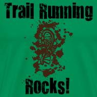 Design ~ MENS RUNNING T SHIRT - TRAIL RUNNING ROCKS