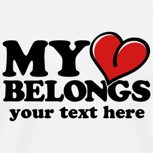 My heart belongs T-Shirts - Men's Premium T-Shirt
