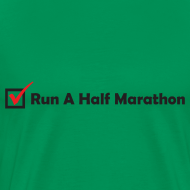 Design ~ MENS RUNNING T SHIRT - RUN HALF MARATHON CHECK