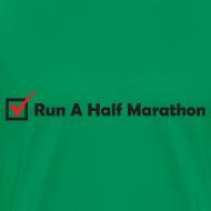 Design ~ MENS RUNNING T SHIRT - RUN HALF MARATHON CHECK