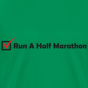 RUN HALF MARATHON CHECK - Men's Premium T-Shirt
