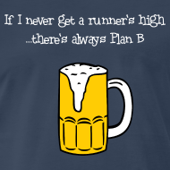 Design ~ MENS RUNNING T SHIRT - BEER PLAN B
