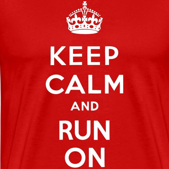 MENS RUNNING T SHIRT - KEEP CALM RUN ON