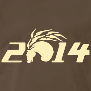 2014 year of horse Men's 3XL 4XL T-Shirt - Men's Premium T-Shirt