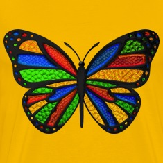 Stained Glass Butterfly T-Shirts