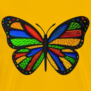 Stained Glass Butterfly T-Shirts - Men's Premium T-Shirt