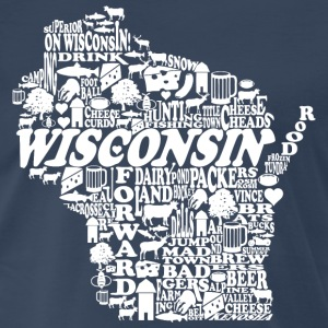 Wisconsin Words T-Shirts - Men's Premium T-Shirt