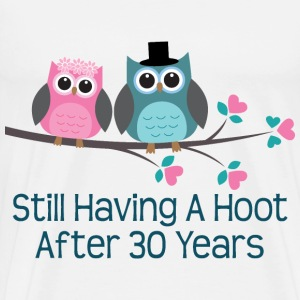 30th Anniversary Owl Couple T-Shirts - Men's Premium T-Shirt