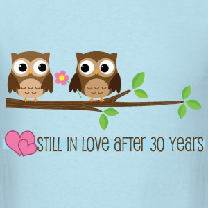 30 Year Anniversary Owl Love T-Shirts - Men's T-Shirt