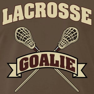 Lacrosse Goalie Dark T-Shirt - Men's Premium T-Shirt