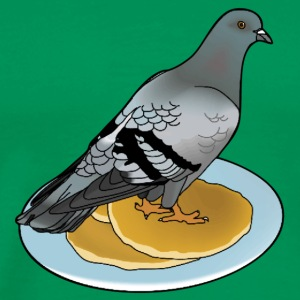 pigeon on a pancake T-Shirts - Men's Premium T-Shirt