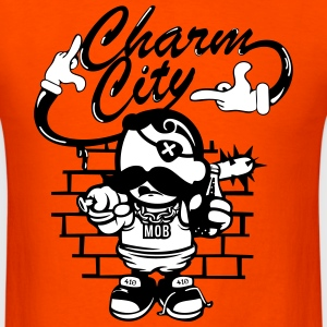 Charm City tshirt Baltimore cartoon - Men's T-Shirt