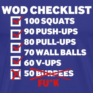 WOD CHECKLIST - Men's Premium T-Shirt
