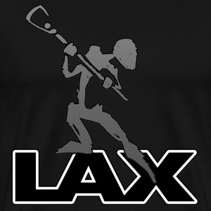 Lacrosse LAX Abstract Dark T-Shirt - Men's Premium T-Shirt