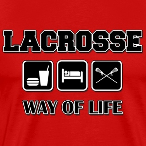 Lacrosse Eat Sleep Lacrosse T-Shirt - Men's Premium T-Shirt