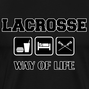 Lacrosse Eat Sleep Lacrosse Dark T-Shirt - Men's Premium T-Shirt