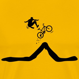 Bike jump with descent of the driver   Shirt - Men's Premium T-Shirt