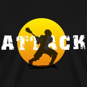 Lacrosse Attack Dark T-Shirt - Men's Premium T-Shirt