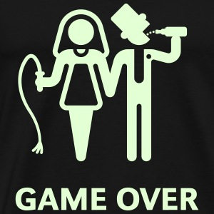 Game Over (Whip and Beer) T-Shirt - Men's Premium T-Shirt