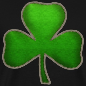 Irish Shamrock Sewn Look T-Shirt - Men's Premium T-Shirt