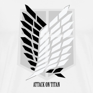 Attack On Titan: Wings of Freedom T-shirt w/ Text T-Shirts - Men's Premium T-Shirt