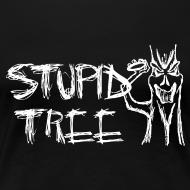 Design ~ Stupid Tree Disc Golf Shirt - Women's Fitted Shirt - White Print