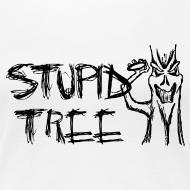 Design ~ Stupid Tree Disc Golf Shirt - Women's Fitted Tee - Black Print