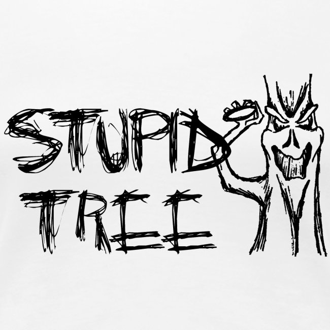 Stupid Tree Disc Golf Shirt - Women's Fitted Tee - Black Print