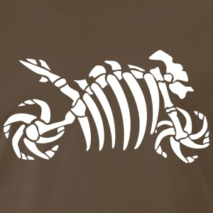 Fossil skeleton motorcycle Shirt - Men's Premium T-Shirt