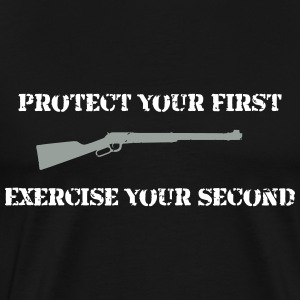 1st & 2nd Amendment T-Shirt - Men's Premium T-Shirt