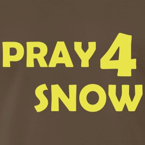 pray for snow T-Shirts - Men's Premium T-Shirt