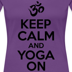 keep Calm Yoga On Women's T-Shirts - Women's Premium T-Shirt