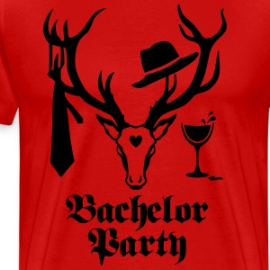 Deer Gentlemen Bachelor Groom Wine Team T-Shirt - Men's Premium T-Shirt
