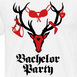 09 deer bachelor party 2c fun funny love stag nigh - Men's Premium T-Shirt