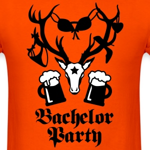 11 deer bachelor party fun funny love stag night M - Men's T-Shirt