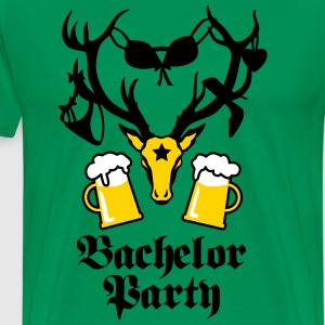 Sexy Deer Stag Night Bachelor Groom BEER T-Shirt - Men's Premium T-Shirt