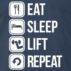 eat sleep lift repeat T-Shirts