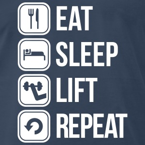 eat sleep lift repeat T-Shirts - Men's Premium T-Shirt