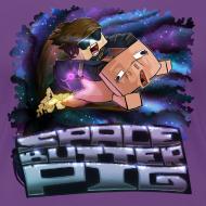 Design ~ Ladies T Shirt: SPACE BUTTER PIG!