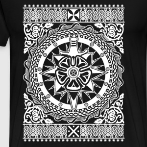 Intricate Ornament White - Men's Premium T-Shirt