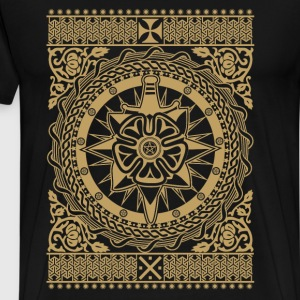 Intricate Ornament Gold - Men's Premium T-Shirt