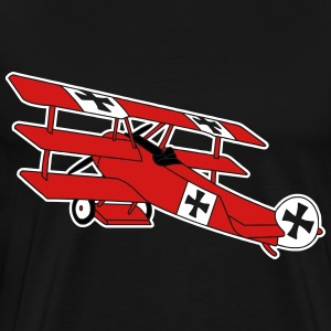 Fokker Roter Baron Red Air Combat First World War T-Shirts - Men's Premium T-Shirt